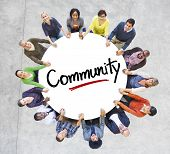 pic of diversity  - Diverse People in a Circle with Community Concept - JPG