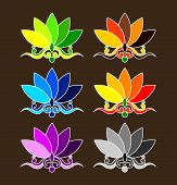 stock photo of budha  - Cute Colour Decorative Vector for budha symbol - JPG