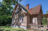 picture of chalet  - Wood chalet abandoned in the forest in ukraine - JPG