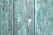stock photo of mint-green  - Shabby Style: Turquoise or mint green wooden old patterned background in vintage style.