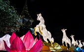picture of chinese new year horse  - horse lantern model display in Bangkok - JPG