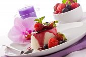 pic of panna  - photo of delicious panna cotta dessert with berries - JPG