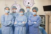 picture of operation theater  - Medical students in operating theater at the university - JPG