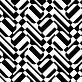 stock photo of zigzag  - Seamless Square and ZigZag Pattern - JPG