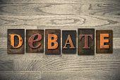 stock photo of debate  - The word  - JPG