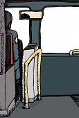 pic of bus driver  - Rear view illustration of driver in a bus - JPG