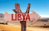 image of libya  - Libya wooden sign with dry background - JPG