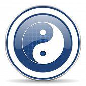 pic of ying-yang  - ying yang icon   - JPG
