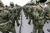 pic of army soldier  - Japanese army parade  - JPG