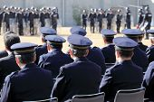 picture of police  - Back view of Japanese police officers - JPG