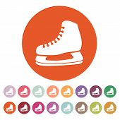 picture of skate  - The skates icon - JPG
