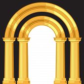 picture of greek-architecture  - Doric realistic antique greek arch with columns - JPG