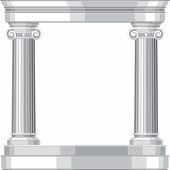 picture of ionic  - Ionic realistic antique greek temple with columns - JPG