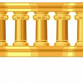 stock photo of ionic  - Seamless pattern with ionic antique greek colonnade - JPG