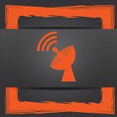 picture of antenna  - Wireless antenna icon - JPG
