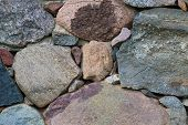 stock photo of fortified wall  - Beautiful close up of old stone wall  - JPG