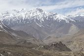 stock photo of mustang  - Gompa or Monastry in Jharkot Mustang district Nepal - JPG