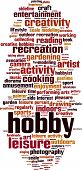 Постер, плакат: Hobby Word Cloud