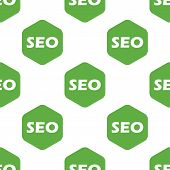 stock photo of octagon  - Text SEO in octagon - JPG