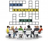 picture of scrabble  - Solution Ideas Plan Solving Result Crossword Concept - JPG