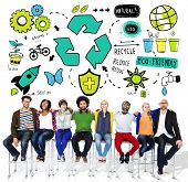 picture of environment-friendly  - Recycle Reuse Reduce Bio Eco Friendly Environment Concept - JPG