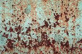 pic of oxidation  - abstract corroded colorful wallpaper grunge background iron rusty artistic wall peeling paint - JPG
