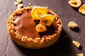 image of tarts  - chocolate tart - JPG