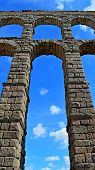 stock photo of aqueduct  - Segovia - JPG