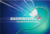 Постер, плакат: Badminton Tournament series logo event