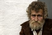 foto of scourge  - homeless person with empty space for text - JPG