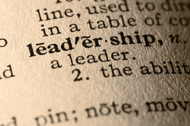 picture of pronunciation  - close-up of the word leadership in a dictionary.  - JPG