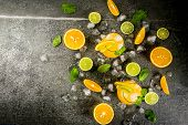 Summer Citrus Punch With Oranges And Lime poster