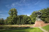 foto of chopin  - Monument of the famous piano player and composer in a park in Warsaw - JPG