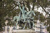 Monument Of Cathedrale Notre-dame De Paris Or Our Lady Of Paris poster
