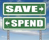 save for later plan ahead saving money in piggy bank savings now and spend later after crisis 3D, il poster