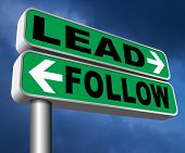leadership follow or lead following or catch up the natural leader,leaders or followers in business  poster