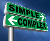 simple or complex keep it easy or simplify solve difficult problems with simplicity or complex solut poster
