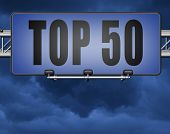 top 50 charts list pop poll result and award winners chart ranking music hits best top fifty quality poster
