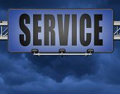 service sign online help and support client or customer service   3D, illustration  poster