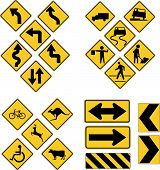 image of road sign  - Set of road signs  - JPG