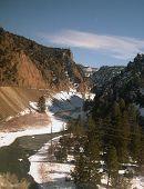 foto of amtrak  - route of california zephyr in colorado rockies - JPG