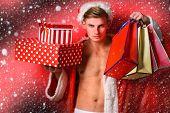 Handsome Macho Santa Man poster
