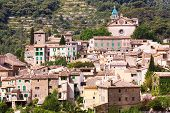 foto of chopin  - The view over the medieval village of Valldemossa located on the island of Mallorca in Spain - JPG