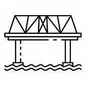 Railway Bridge Icon. Outline Railway Bridge Icon For Web Design Isolated On White Background poster