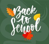 Set Of Welcome Back To School Labels. School Background. Back To School Sale Tag. Vector Illustratio poster