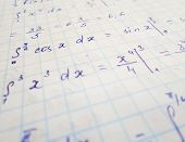 Math Geometry Background With Formulas, Math, Number Equation poster