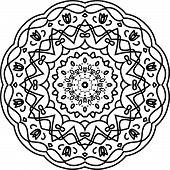 Flower Mandala. Vintage Decorative Elements. Oriental Pattern, Vector Illustration. Islam, Arabic, I poster