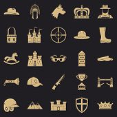 Equestrian Icons Set. Simple Set Of 25 Equestrian Icons For Web For Any Design poster