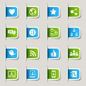Label - Social media icons