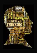 image of think positive  - Positive Thinking in word collage - JPG